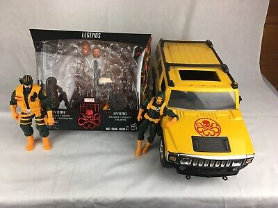 Marvel Legends HYDRA- 2 Pack with CUSTOM 1:12  Buddy L Hummer H2. Hail Hydra!