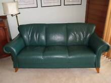 LEATHER SOFA (3 Seater) AND 2 MATCHING CHAIRS Mount Colah Hornsby Area Preview