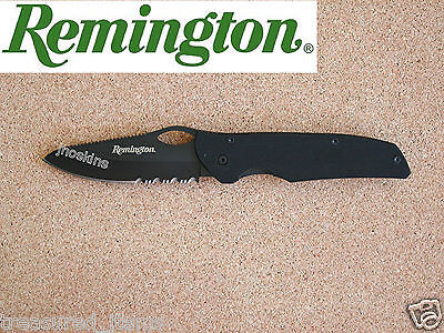 Remington Bandit Knife Tactical Folder Black Titanium 18859 Made in USA Vintage