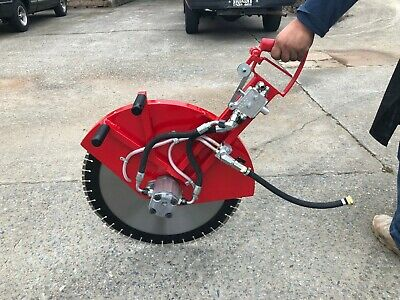 Concrete Cutting Hydraulic Walk Behind Push Floor Flush Short Handle Saw - 24