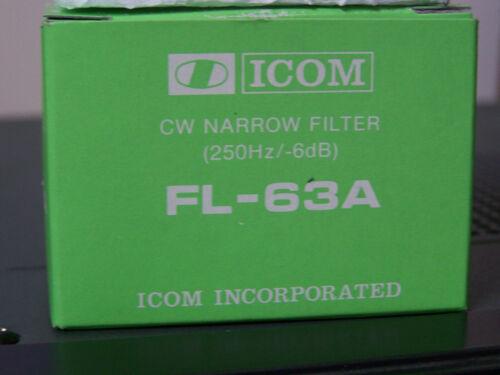 ICOM FL-63A 250 Hz CW 9 MHz IF Crystal Bandwidth Filter Sharp Version Of FL-32A