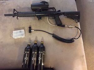 Tippman 98 custom with cyclone feed and many extras