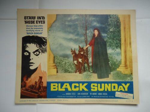 MARIO BAVA/BLACK SUNDAY/MASK OF THE DEMON/UL3/ original lobby card # 1