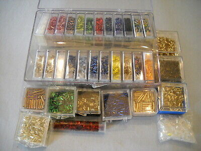 Lot Glass Seed Beads ~All Bugle / Tube Beads ~Variety of Colors- Jewelry Making! Glass Bugle Beads