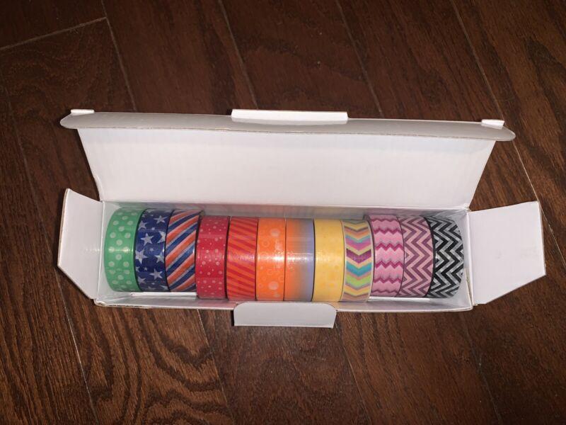 NEW Decorative Craft Washi Masking Tape (Set of 12 Rolls)