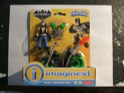 FISHER PRICE IMAGINEXT DC COMICS BATMAN ( BANE & MOTORCYCLE )