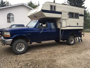 Truck, Camper, Canopy, Sled deck
