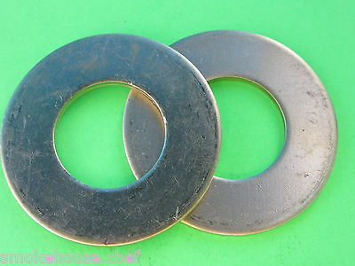 Two 32 Brass Thrust Washer For Hobart Meat Grinder Auger Worm 4332 4532