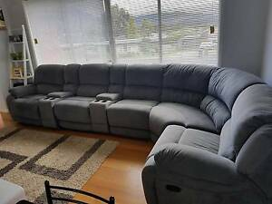 7 piece lounge suite with detachable recliners and cup holders. Kingston Kingborough Area Preview