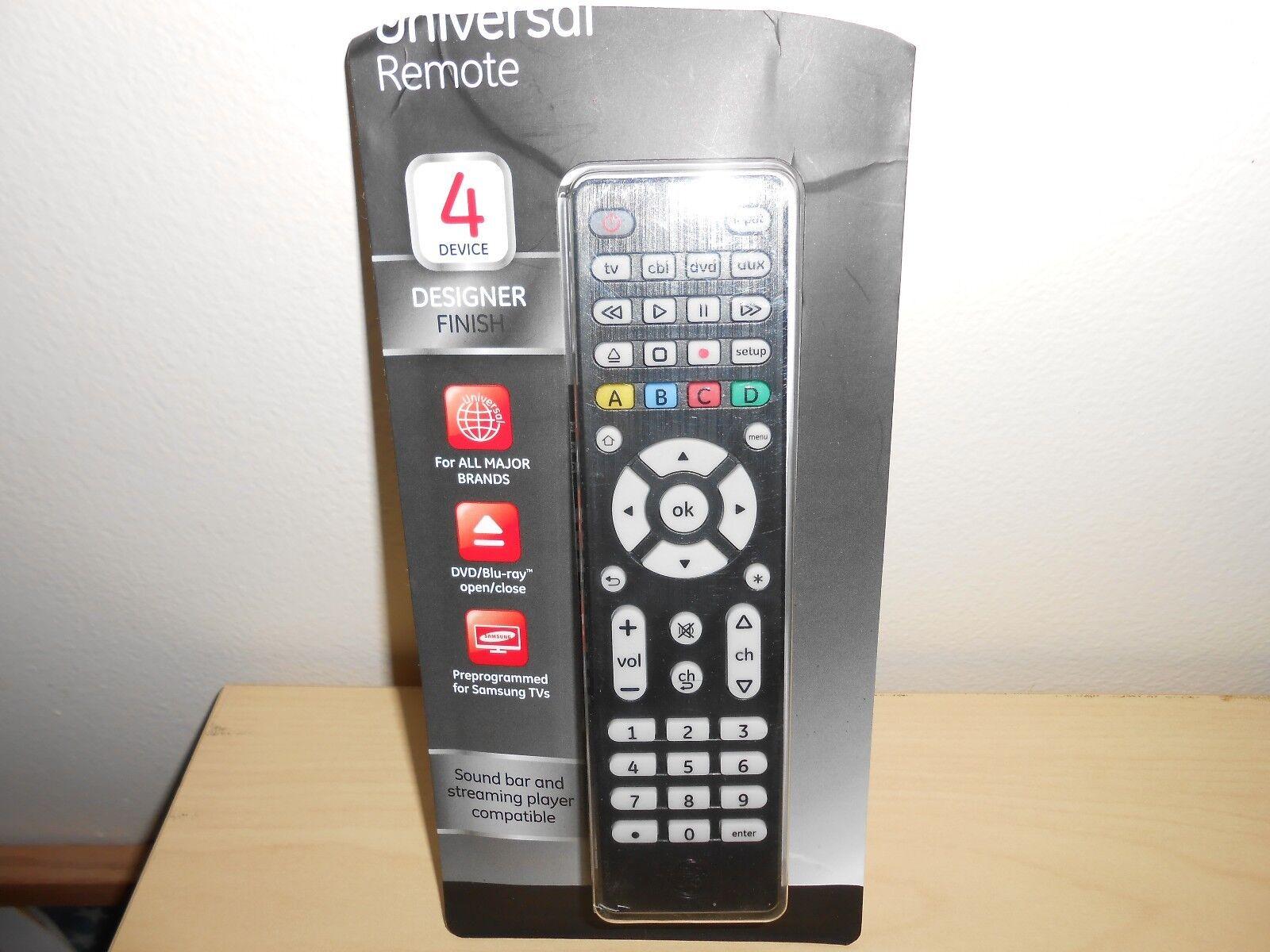 GE 34457 4-Device Universal Remote Control, Designer Series
