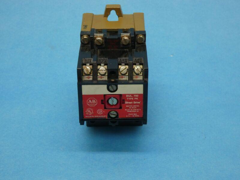Allen Bradley 700-PK400A1 Ser A Direct Drive Relay 4 Pole NO/NC 115-120VAC Coil