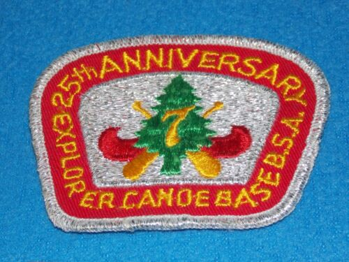 VINTAGE - 25TH ANNIVERSARY REGION SEVEN CANOE BASE PATCH - NEW
