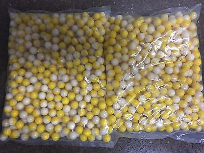 Yellow/White .68 Caliber Paintballs White Paint New In Bag 1000 / Order
