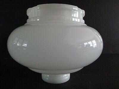 1930s Art Deco Vintage Milk Glass Onion Shape Torchiere Lamp Shade