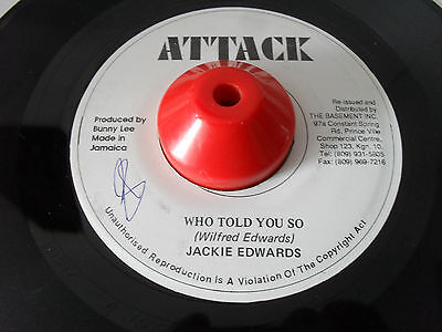 JACKIE EDWARDS WHO TOLD YOU SO / ATTACK RD 1995 REPRESS