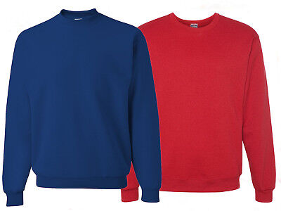 Jerzees Mens Blue Red Nublend Crewneck Sweatshirt 3X 2X Xl Pullover Sweater