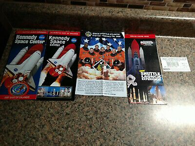 STS 122 Lot Ticket NASA KENNEDY SPACE CENTER Florida Shuttle Launch Brochures