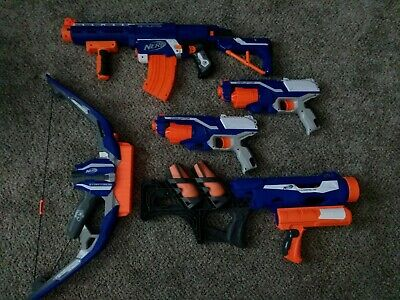 Lot of 5 Nerf Guns. 2x Disrupters, Thunderblast, Stratobow, Retaliator.