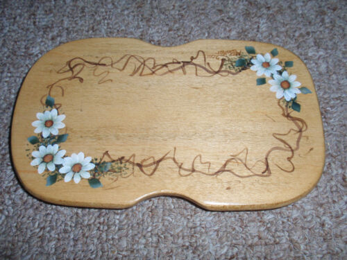 Longaberger WoodCrafts Lid for the Parsley Booking Basket, Hand Painted NEW!!!