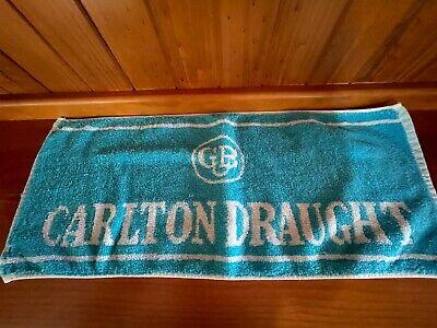 VINTAGE CUB CARLTON DRAUGHT BAR TOWEL BAR MAT MANCAVE 1980s RARE COLLECTABLE