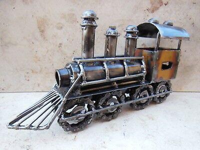 Lock Zug Eisenbahn Dampflock Waggon Eisen Metall Sammeln Deko Handwerkskunst Top