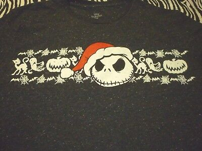 Nightmare Before Christmas Shirt ( Used Size L ) Nice - Nightmare Before Christmas Clothing