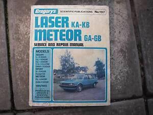 Laser KA-KB  Meteor GA-GB Workshop Manual Gregory's Publication * Wentworthville Parramatta Area Preview