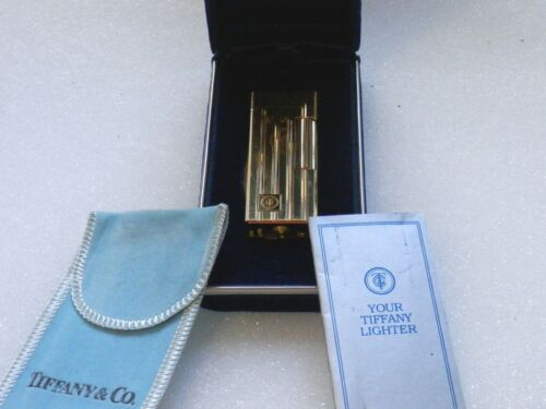 Vintage Tiffany Gold Plated Lighter