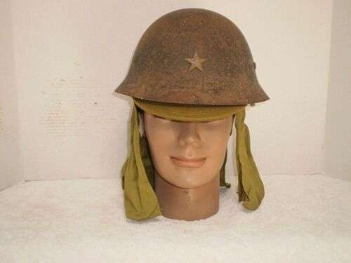 WW2 Japanese army steel helmet with cap..