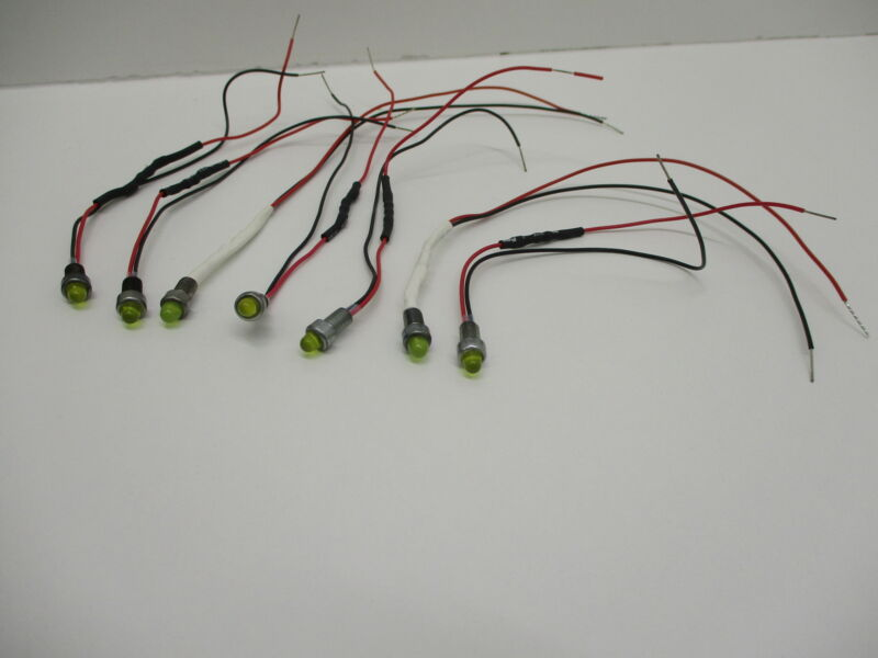 *NEW8 (LOT OF 7) DIALCO 559-0302-001 INDICATOR LED YELLOW