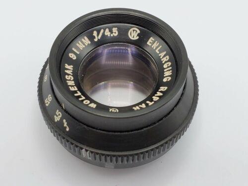 Wollensak 91mm F4.5 Enlarging Raptar Enlarger Lens - 30mm Thread
