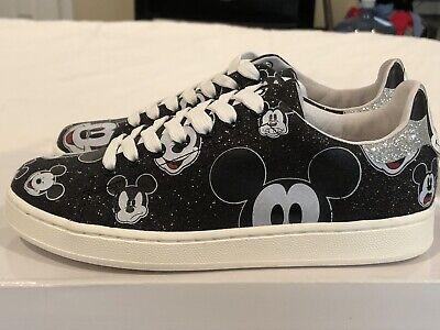 Disney MOA Master of Arts Mickey Mouse Sneakers Women US 5/ UK 3 / EUR 35 Black