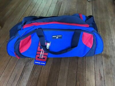 ef2ea8b72bea NEW Vintage 90s Polo Sport Ralph Lauren Gym Fitness Duffel Bag Red Blue W   TAGS