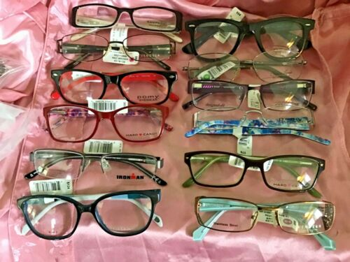 12 Pairs NWTs Eyeglasses rx-able Frames INVENTORY BLOWOUT $750 Value Wholesale