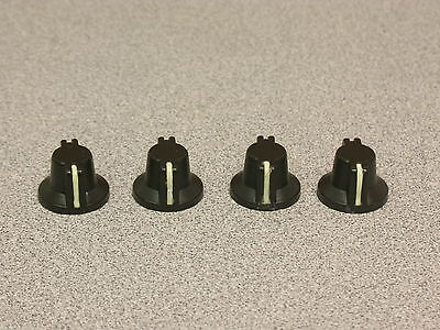 (4pcs Aluminum Military Style Knobs w/Glow In The Dark Index Line 1/8th