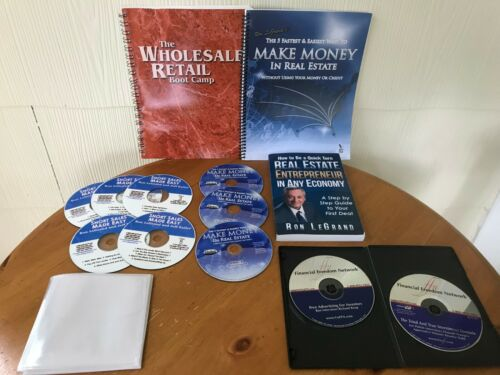 RON LEGRAND REAL ESTATE INVESTING BUNDLE OF STUFF! - 2 MANUALS, 10 CD