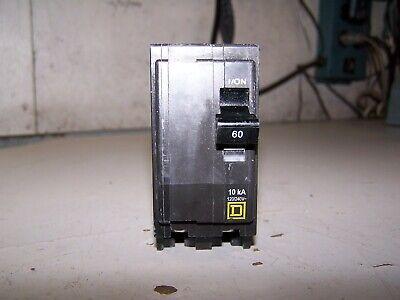 Square D 60 Amp Circuit Breaker 240 Vac 2 Pole Qo260