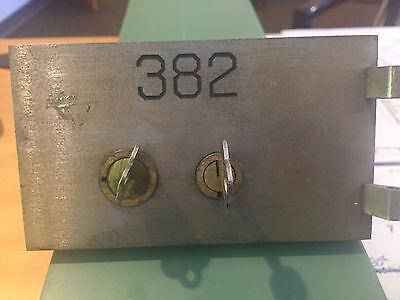 Safe Deposit Box Door Lock   Keys  Safety Bank Vintage Antique Key 5X3 Opens S G