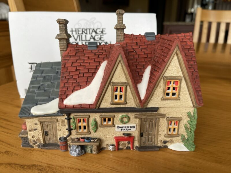 heritage village collection department 56 Dickens Village Butter Tub Farmhouse