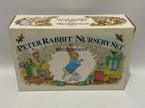 3 Piece Nursery Set Peter Rabbit Beatrix Potter by Wedgwood Mug Plate Bowl New