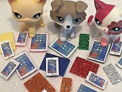 Littlest Pet Shop Clothes 2PC LPS Accessories Phone Tablet NO CAT/DOG Best
