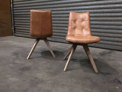 new doc leather dining chairs golden or tan colour first rate
