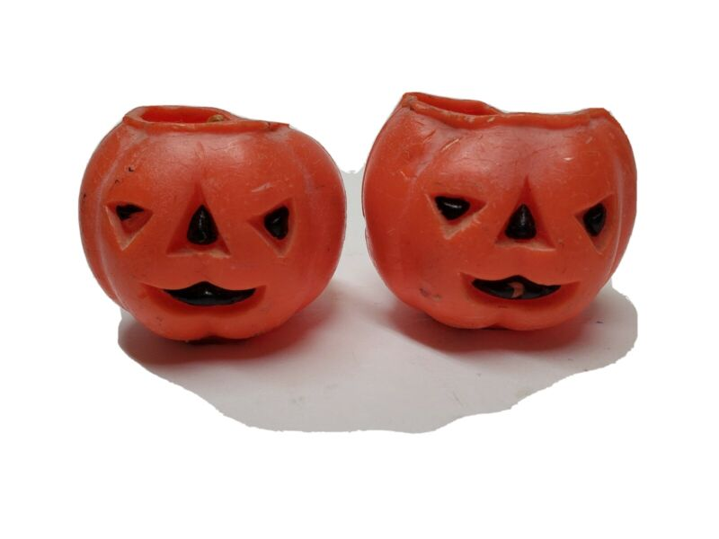 VINTAGE HALLOWEEN GURLEY PUMPKIN CANDLES COLLECTIBLES
