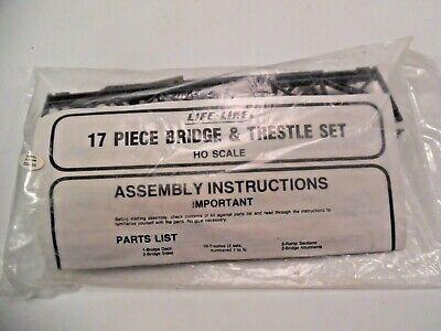Life LIke Prod, HO Scale Model Train 17 piece TRESTLE & BRIDGE Set, NEW, SEALED