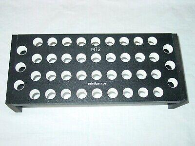 2 Morse Taper Shank Drill Bit Bench-top Storage Rack Stand Mt2 2mt Set Abx4