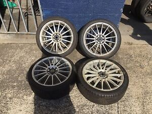 17' Multi Stud racing wheels good tyres Oakleigh South Monash Area Preview
