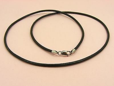 ~Custom Made~ 1 x 925 STERLING SILVER 2mm Dark Brown LEATHER Choker NECKLACE