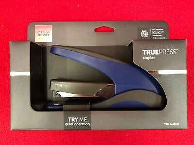 Brand New Truepress Stapler Quiet Jam Free Lightweight Less Effort Blackblue