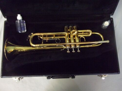 READY TO PLAY! AMERICAN MADE ACCENT TRUMPET + VINCENT BACH 7C MOUTHPIECE + CASE