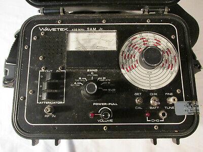 Wavetek Sam Jr Catv Signal Meter Hard Case 450mhz Vintage Display Parts 9623268